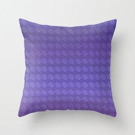 Purple greek key Throw Pillow