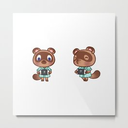 Timmy tommy nook playing switch animal crossing Metal Print