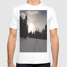 Earning Turns MEDIUM White Mens Fitted Tee