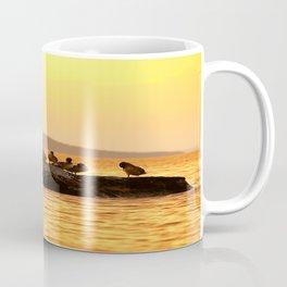 Summer Scene - Birds are resting on Stone - Sunset Sky #decor #society6 #buyart Coffee Mug