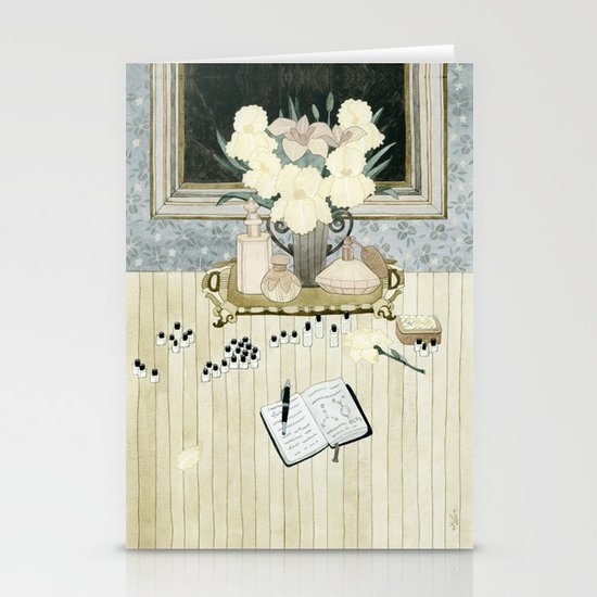 Perfumer at work Stationery Cards