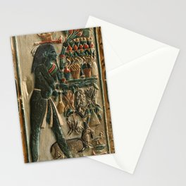 Nome Gods Bearing Offerings ca 1390 Egypt, New Kingdom, Dynasty 18 (1540-1296), reign of Amenhotep I Stationery Cards
