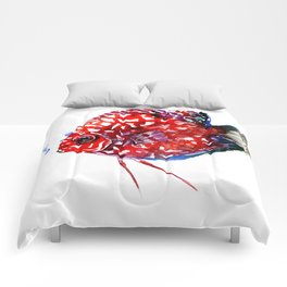 Scarlet Red Discus Comforters