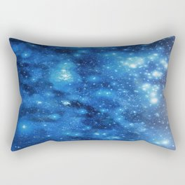 Blue Nebula - Galaxy Rectangular Pillow
