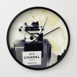Black and White Coco Wall Clock