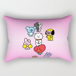 BTS BT21 Characters Rectangular Pillow