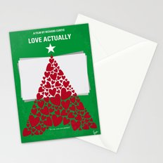 No701 My Love Actually minimal movie poster Stationery Cards