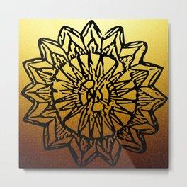 Aztec Sun Tribal Design 1 Metal Print