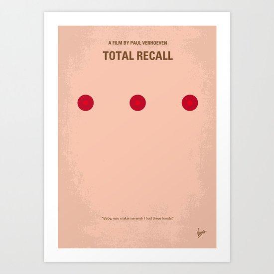 No097 My Total Recall minimal movie poster Art Print