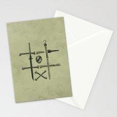 Noughts & Crossbones Stationery Cards