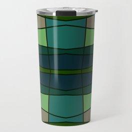 Green Pattern Turtle Travel Mug