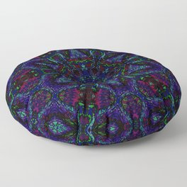 Near Black Daylily (under metaphorical blacklight) Floor Pillow