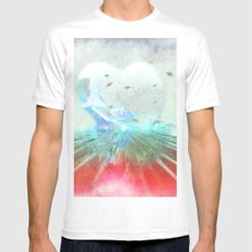 When it comes from the heart ... White MEDIUM Mens Fitted Tee