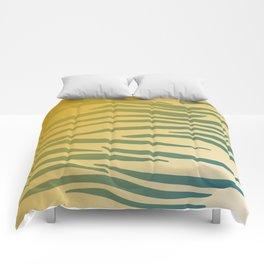 gold design exotic lines blocks Comforters