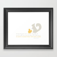 He Gently Leads - squirrel Framed Art Print