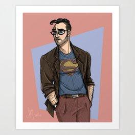 Hipster Supes Art Print