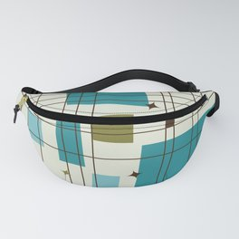Mid-Century Modern (teal) Fanny Pack
