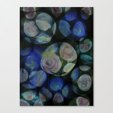 Blue and Black Around Canvas Print