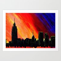 When the Lights Go Down in the City Art Print