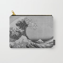 Black & White Japanese Great Wave off Kanagawa by Hokusai Carry-All Pouch