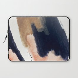 Drift Away [2] - a mixed media abstract piece in pink, brown, and purple Laptop Sleeve