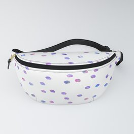 Pink blue teal watercolor geometrical polka dots Fanny Pack
