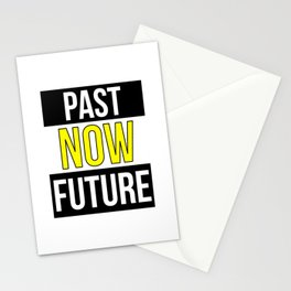 Present Past Future Be Active Procrastinating Stationery Cards