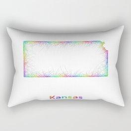 Rainbow Kansas map Rectangular Pillow
