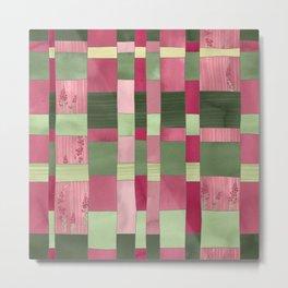 Weaver's Dream / Geometric Meets Floral Metal Print