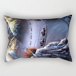 Panoramic View Of Everest Mountain Rectangular Pillow