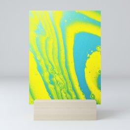 Yellow Blue Abstract Animal Print Acrylic Mini Art Print