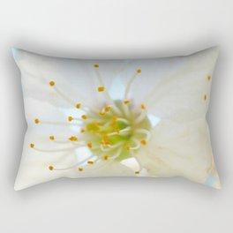 White Cherry Macro Photography Rectangular Pillow
