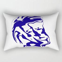 face6 blue Rectangular Pillow