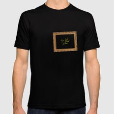 Living life as a work of art Mens Fitted Tee Black MEDIUM
