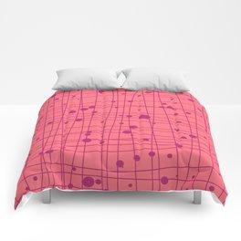 Woven Web pink Comforters