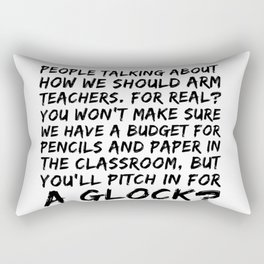 Keep The Classroom Safe Rectangular Pillow