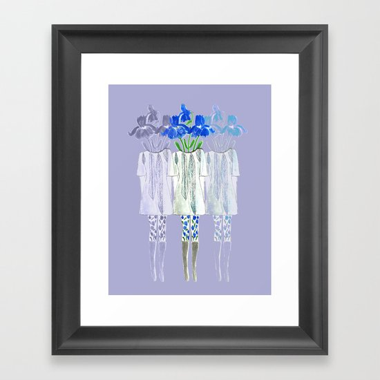 Iris Illustration Framed Art Print