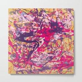 Splish Splash Abstract Painting Metal Print