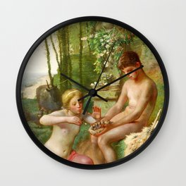 Jean-Francois Millet - Spring, Daphnis And Chloe - Digital Remastered Edition Wall Clock