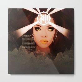 Rihanna as Japanese Deity Triptych (Amaterasu) Metal Print