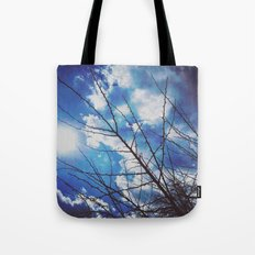 Thorns on blue Tote Bag