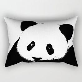 Giant Panda in Black & White Rectangular Pillow