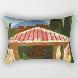 Ercolano Naples Italian summer travel ad Rectangular Pillow