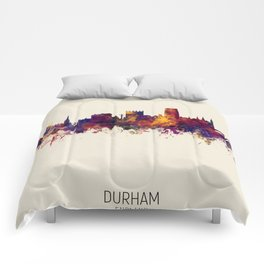 Durham England Skyline Cityscape Comforters