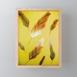 Gold feather Framed Mini Art Print