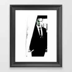 Behind The Curtain Framed Art Print