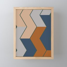 Modern Fall Winter Color Pattern Framed Mini Art Print