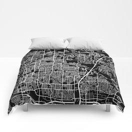 plano map texas Comforters
