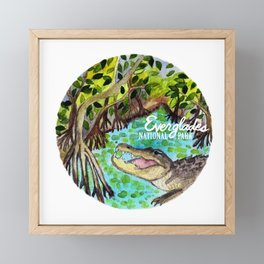 Everglades National Park Watercolor Framed Mini Art Print