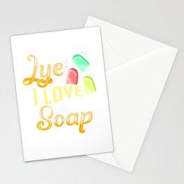 I Cannot Lye I Love Making Soap Pun Stationery Cards